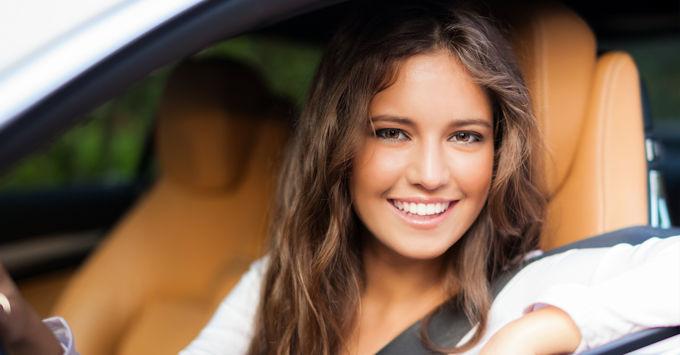 Teen in car
